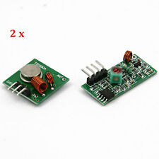 2 pair of RF 433Mhz Transmitter and Receiver Module Kit for Arduino Raspberry Pi