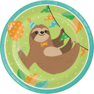Sloth Party Paper Plates, 24 Count