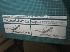 Quattro Sunstrip Gecko Sport Racing Decal sticker 8pcs.