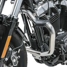 Pare cylindre Mustache II pour Harley Sportster 1200 Custom 04-20 inox