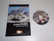 Combat Mission: Afrika Korps PC Game, CD-ROM and Quick Reference Guide