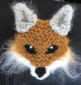 FOX KNITTED BROOCH