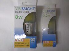 Lot de 5 ampoules LED E27 - 8 Watts + 2 ampoules LED E14 3,2 Watts