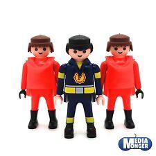 playmobil® 3 x Grundfigur: Feuerwehr | Firefighter | Spezialeinheit | Team