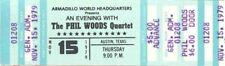 Phil Woods Quartet Concert Ticket 1979