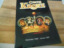Sach Circus Krone - Programmheft 1996 / 1997 (36 pg) EIGENVERLAG