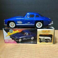 Vintage Tin Friction 1956 Mercedes Benz Toy W/Sound>Mint ConditionW/Orig.BoxBlue