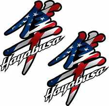 2 USA American Flag Hayabusa Decals Stickers GSXR 1300 1300r gsx