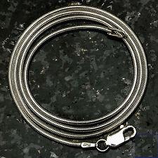 """Snake 030-30""""  8.1 Gram .925 Sterling Silver Chain 30"""""""