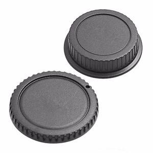 Camera Body Cover Case + Back Lens Rear Cap For Canon EOS DSLR SLR Part CA