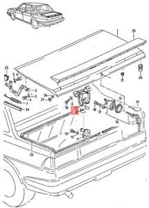 Genuine Volkswagen Lid Lock Rear NOS Quantum 32 321 322 323 324 327 327827503A