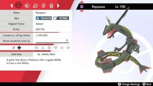 Pokemon Sword & Shield Shiny Rayquaza 6IV Max EVs