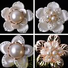1~5pcs 48~53mm Resin Rhinestone Flower Buttons Appliques Crafts DIY Sewing