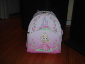 LOUNGEFLY DISNEY AURORA CHIBI MINI BACKPACK~ WITH TAGS~NEW~ PINK~ PRINCESS~