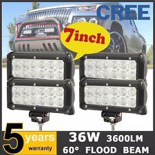 4X 7INCH 36W CREE LED WORK LIGHT BAR FLOOD OFFROAD DRIVING LAMP UTE SUV 12V 24V