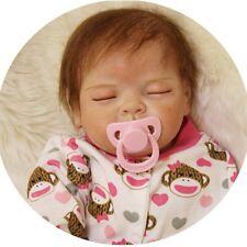"22""/55cm Reborn Sleeping Girl baby Dolls Handmade Soft Lifelike Silicone Vinyl A"
