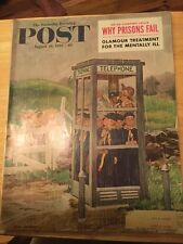 The Saturday Evening Post August 1961 Coca Cola Back Cover