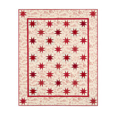 "Robert Kaufman Toile Stars Fabric Quilt Kit Pattern 56"" x 68"" KITP-1641-11"