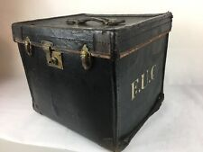 Antique Travel Trunk, Chest, Luggage (Cole Brothers - Sheffield) F.U.C Initials