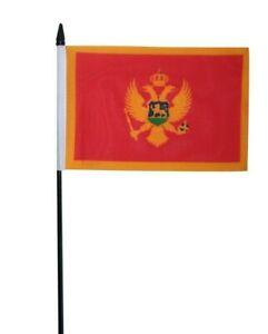 """Montenegro Small Hand Waving Flag 6"""" x 4"""""""