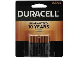 Duracell AAA Coppertop Alkaline Batteries 4 pk EXP. 2027
