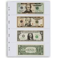 Lighthouse Grande 4 Pockets Banknotes Pages Modern Currency 4C 1 Pack Clear US