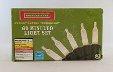 Holiday Home 60 Ct LED Christmas Faceted Mini Light Set Warm White In/Outdoor