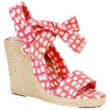 L K Bennett Zola espadrilles women's wedge sandals in coral UK7.5EU41US10