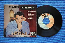 CHARLES AZNAVOUR / EP BARCLAY 70316 / VERSO 4 LABEL 2 / BIEM 1960 ( F )
