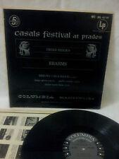 BRAHMS -- CASALS FESTIVAL AT PRADES - THIRD SERIES - COLUMBIA MASTERWORKS