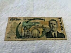 ONE 10,000 PESO NOTE 1989 MEXICO  WELL CIRCULATED