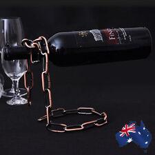 2x Wine Chain Rack Liquor Bottle Holder Floating Alcohol Illusion HWIHA8650x2
