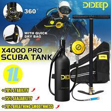 DIDEEP X400 Pro 1L Scuba Tank Air Diving Oxygen Dive Equipment Inflator Pump US