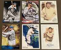 HOFer Babe Ruth 6-card Lot including 2015 Topps Insert 'ARCHETYPES - POWER'