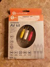 ALPHALINE Composite AV kit 6ft, Model #15516, *Brand New*