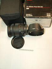 NEW 17-50mm F2.8 Sigma EX DC HSM zoom lens for Sony Alpha Minolta Maxxum camera