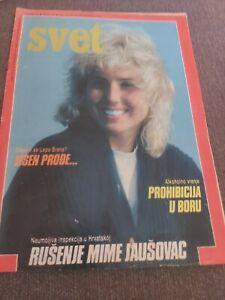 SVET EX YUGOSLAVIA MAGAZINE NO 93 1985 COVER LEPA BRENA VINTAGE VERY RARE
