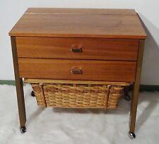 mid century design 60's - Nussholz Nähtisch Nähschrank vintage sewing table 60er