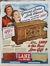 1948 Lane Cedar Hope Chest Airplane Pilot Christmas Love Gift Original Ad