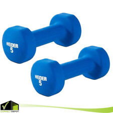 5 LB Weight Dumbbell Neoprene Workout Exercise Training Fit Gym Fitness Weider