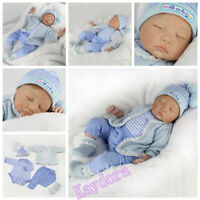 22''Reborn Newborn Dolls Realistic Vinyl Silicone Baby Boy Doll Xmas Toy+Clothes