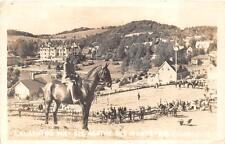 RPPC LAURENTIDE INN AGATHE DES MONTS HORSE PQ CANADA REAL PHOTO POSTCARD 1945