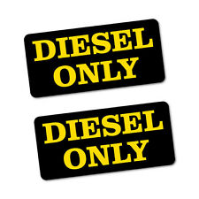 2X DIESEL ONLY PETROL Sticker Decal Car Automotive Fuel Racing #6574EN
