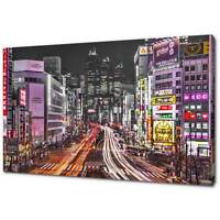 TOKYO JAPAN NIGHT CANVAS PRINT PICTURE WALL ART FREE FAST DELIVERY