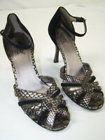 Carlos by Carlos Santana Heels Shoes Open Toe Ankle Womens Size 8.5 8-1/2 M