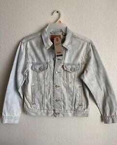 LEVI'S Ex-Boyfriend Trucker Jacket Floral Embroidered Size M
