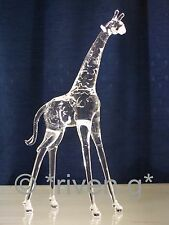 GIRAFFE Figurine@CRYSTAL Glass BEAST@UNIQUE Collectable Gift@Wild Jungle Animal