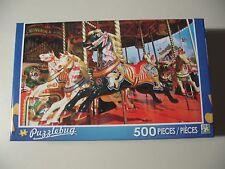 500 piece Puzzle, Puzzlebug: Carousel Dark Horse (Brand New & Sealed