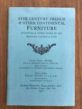 18TH C FRENCH & OTHER FURNITURE Nov 9 1968 Parke Bernet Auction Catalog Prices