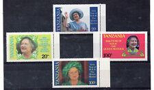 Tanzania 85 aniversario Reina Madre serie del año 1985 (CT-810)